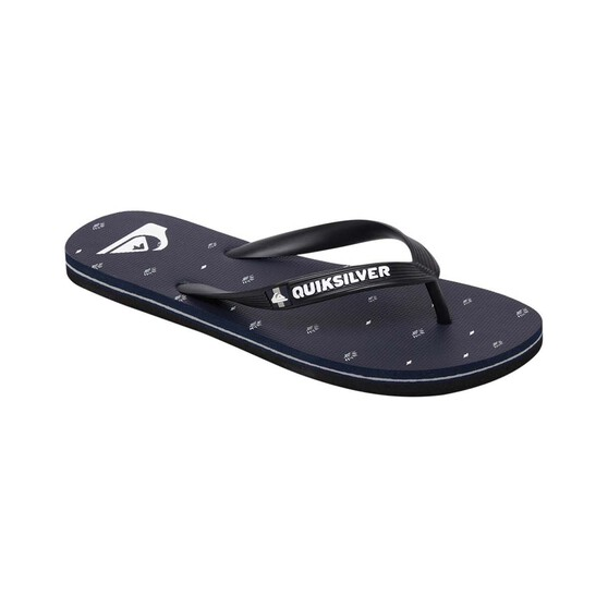 Quiksilver Waterman Men's Molokai Threads and Fins Thongs, Black / Grey, bcf_hi-res