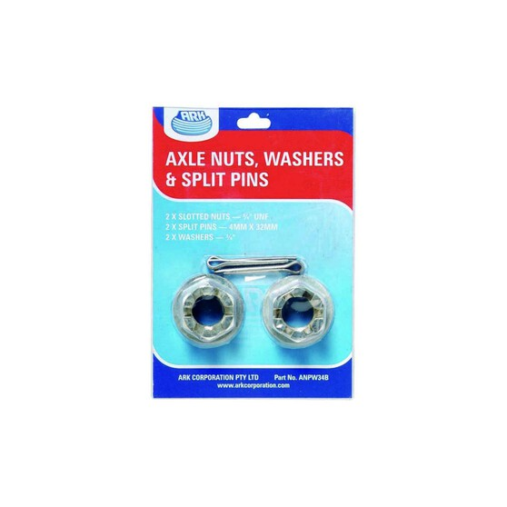 Ark Axle Wheel Nut Washer and Split Pin Pack, , bcf_hi-res