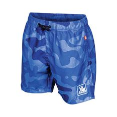 The Mad Hueys Kids Armed Camo Boardies Blue 8, Blue, bcf_hi-res