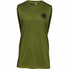 The Mad Hueys Men's Armed UV Muscle Tank Army Green S, Army Green, bcf_hi-res