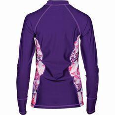 Women's Long Sleeve Rashie Purple 12, Purple, bcf_hi-res