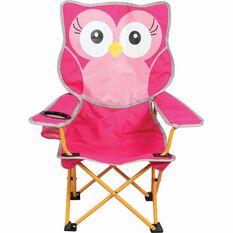 Kids' Animal Camp Chair Pink Owl, Pink Owl, bcf_hi-res