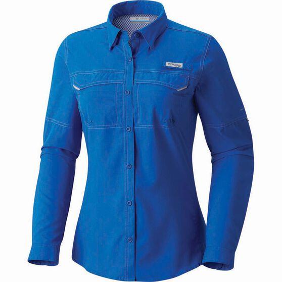 Columbia Women's Low Drag Long Sleeve Shirt, Blue Macaw, bcf_hi-res