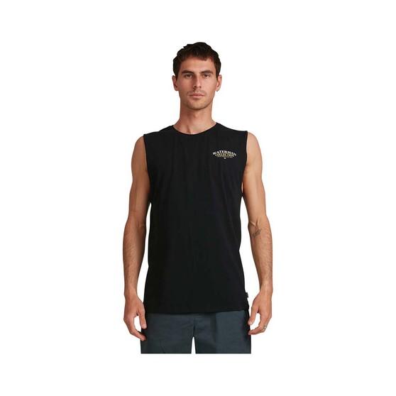 Quiksilver Waterman Men's Wet a Line Muscle Tank, Black, bcf_hi-res