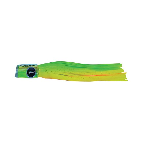 Classic Bluewater Plunger Skirted Lure 8in Chartreuse Orange, Chartreuse Orange, bcf_hi-res
