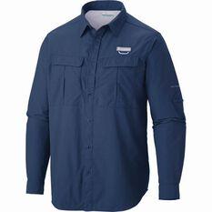 Columbia Men's Cascade Explorer Long Sleeve Shirt Carbon Blue M, Carbon Blue, bcf_hi-res