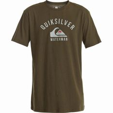 Quiksilver Men's Established II Tee Ivy Green S Men's, Ivy Green, bcf_hi-res