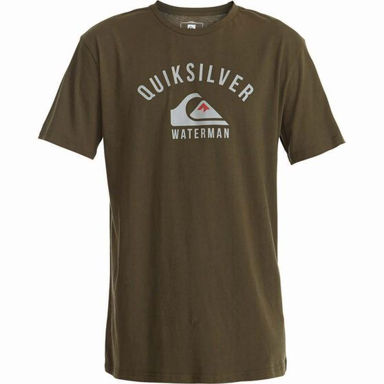 Quiksilver Men's Established II Tee Ivy Green L Men's, Ivy Green, bcf_hi-res