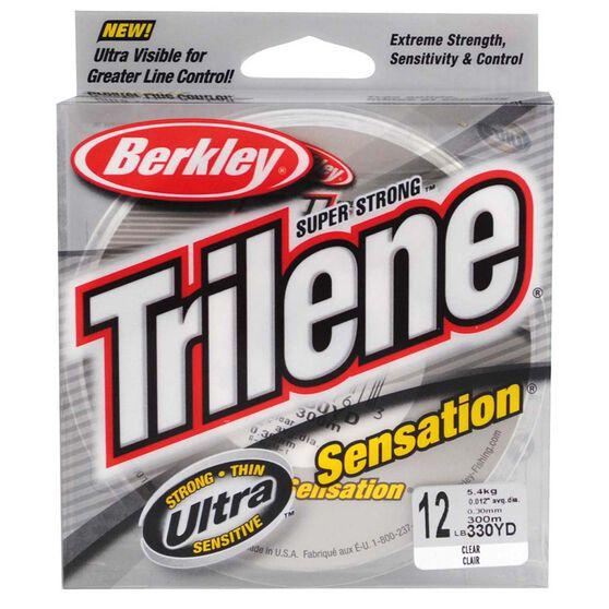 Berkley Trilene Sensation Mono Line 300m Clear, , bcf_hi-res