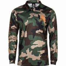 The Mad Hueys Men's Camo Fishing Jersey Camo S, Camo, bcf_hi-res