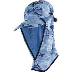 Sunprotection Australia Kids' Flippa Cap Hat Marine Camo OSFM, Marine Camo, bcf_hi-res