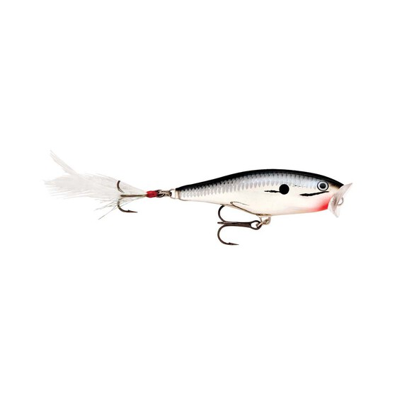 Rapala Skitter Pop Surface Lure 7cm Chrome, Chrome, bcf_hi-res