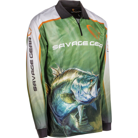 Savage Men's Barra Sublimated Polo Green L, Green, bcf_hi-res