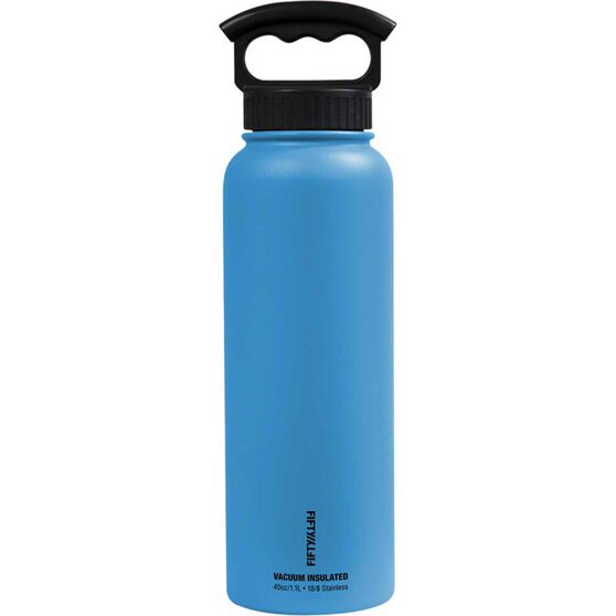 Fifty Fifty Insulated Drink Bottle 1.1L Crater Blue, Crater Blue, bcf_hi-res
