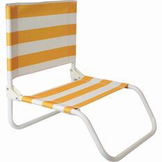 Folding Beach Chair, Yellow Stripe, bcf_hi-res