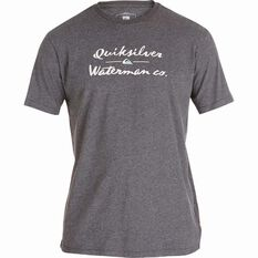 Quiksilver Waterman Tried and Proven Tee Charcoal Heather S, Charcoal Heather, bcf_hi-res