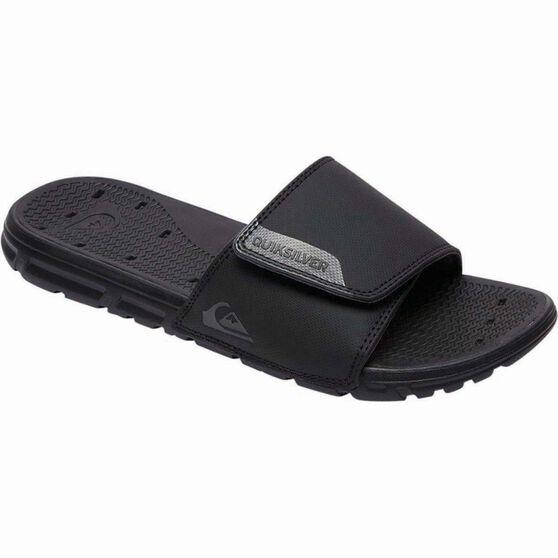 Quiksilver Men's Amphibian Adjust Slide, Black / Grey, bcf_hi-res