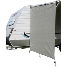 Camec Caravan Privacy Screen 2m x 1.8m End, , bcf_hi-res