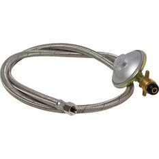 Companion Braided 1/4 SAEF Gas Hose 1200mm, , bcf_hi-res