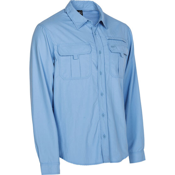 Explore 360 Men's Vented Long Sleeve Fishing Shirt Blue L, Blue, bcf_hi-res