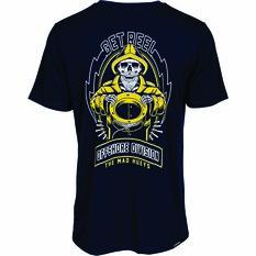 The Mad Hueys Men's Fisho Short Sleeve UV Tee Navy S, Navy, bcf_hi-res