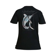 Quiksilver Waterman Men's Outer Reef Tee, Black, bcf_hi-res