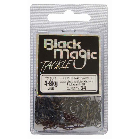 Black Magic Rolling Snap Swivel 34 Pack, , bcf_hi-res