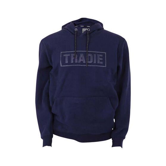 Tradie Men's Foundation Pop-Over Hoodie, Navy, bcf_hi-res