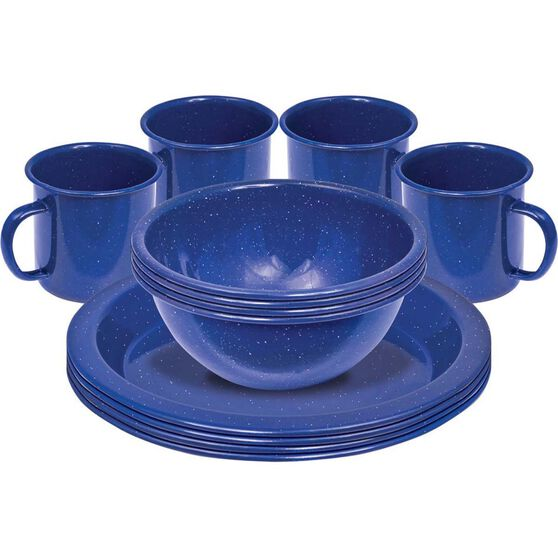 Campfire Enamel Dinner Set 12 Piece, , bcf_hi-res
