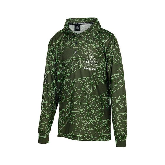 The Mad Hueys Youth Offshore Tech Fishing Jersey, Green, bcf_hi-res