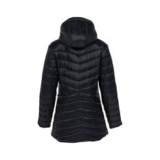 OUTRAK Puffer Longline Jacket, Black, bcf_hi-res