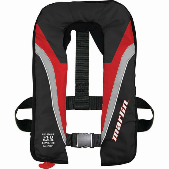Marlin Australia Inflatable Adult Explorer 150 PFD Red, Red, bcf_hi-res