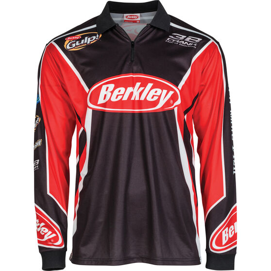 Berkley Men's Logo Sublimated Polo, Black, bcf_hi-res