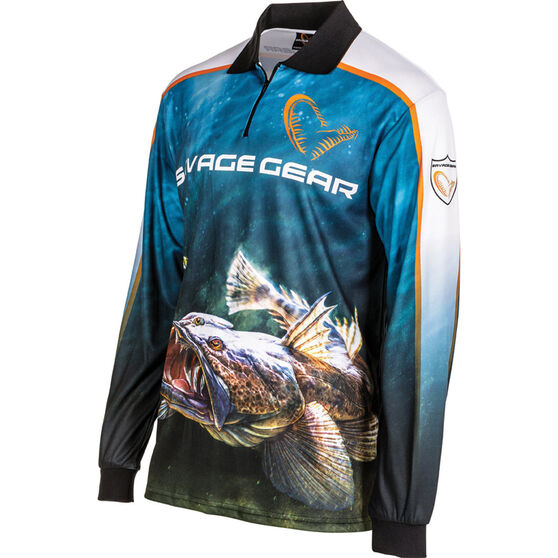 Savage Men's Flathead Sublimated Polo Storm XL, Storm, bcf_hi-res