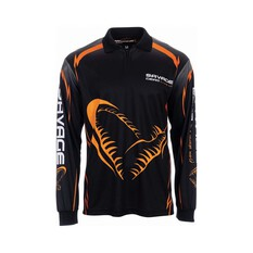 Savage Gear Mens Corp II Sublimated Polo Black S, Black, bcf_hi-res