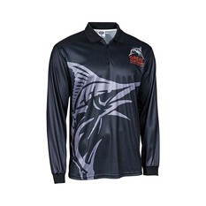 The Great Northern Brewing Co. Men's Sublimated Polo, Black, bcf_hi-res
