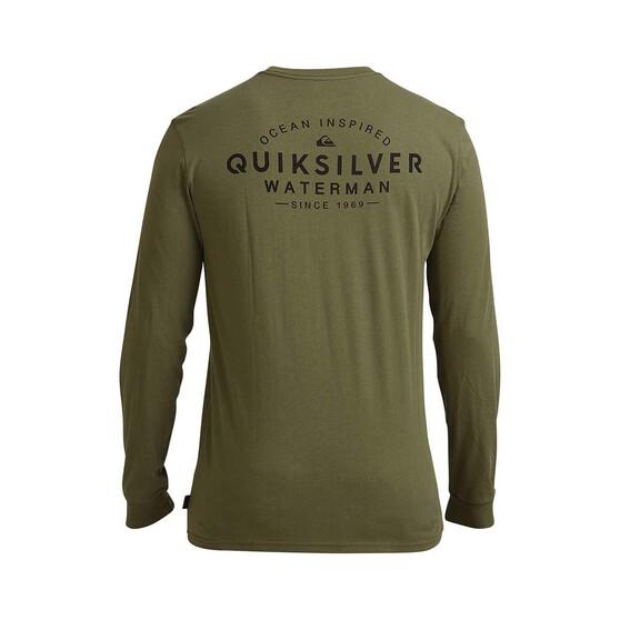 Quiksilver Men's Ocean Haze Long Sleeve Tee, Four Leaf Clover, bcf_hi-res