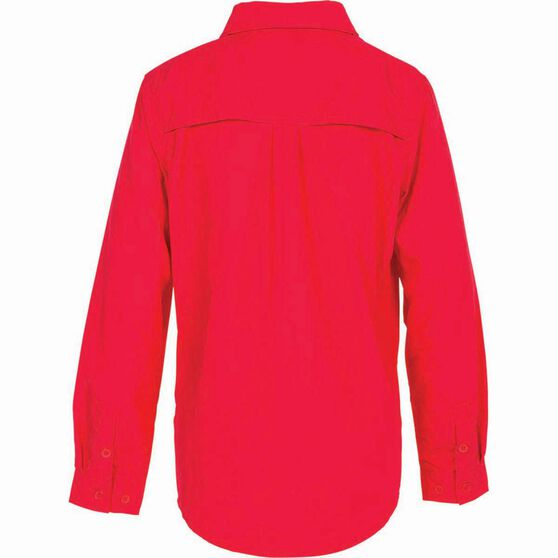Outdoor Expedition Kid's Vented Long Sleeve Fishing Shirt 10 Pop Pink 10, Pop Pink, bcf_hi-res