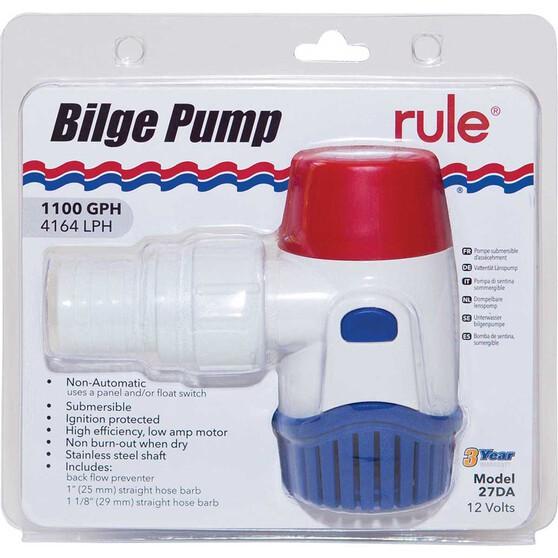 Rule Bilge Pump 12V 1100GPH, , bcf_hi-res