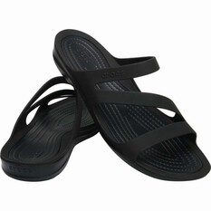 Crocs Women's Swiftwater Sandal Black/Black 6, , bcf_hi-res