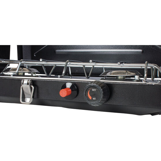 Wanderer LPG Portable Stove with Drip Tray - 2 Burner, , bcf_hi-res