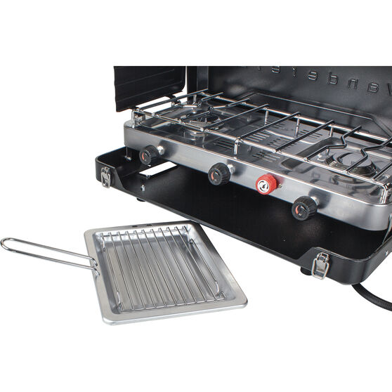 2 Burner LPG Portable Stove with Grill, , bcf_hi-res