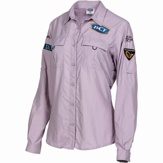 BCF Women's Long Sleeved Fishing Shirt Orchid 16, Orchid, bcf_hi-res