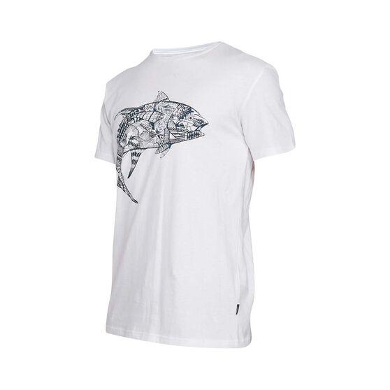 Quiksilver Waterman Men's Tattoo Tuna Short Sleeve Tee White XL, White, bcf_hi-res