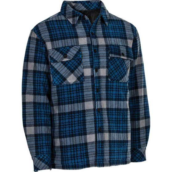 OUTRAK Men's Helmsman Jacket Blue Check L, Blue Check, bcf_hi-res