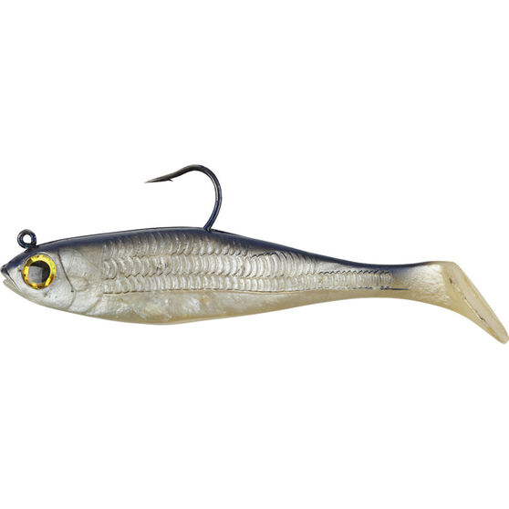 Berkley PowerBait Shad Soft Plastic Lure 6in Silver Mullet, Silver Mullet, bcf_hi-res