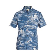 Quiksilver Waterman Men's Les Waves Shirt Majolica Blue S, Majolica Blue, bcf_hi-res