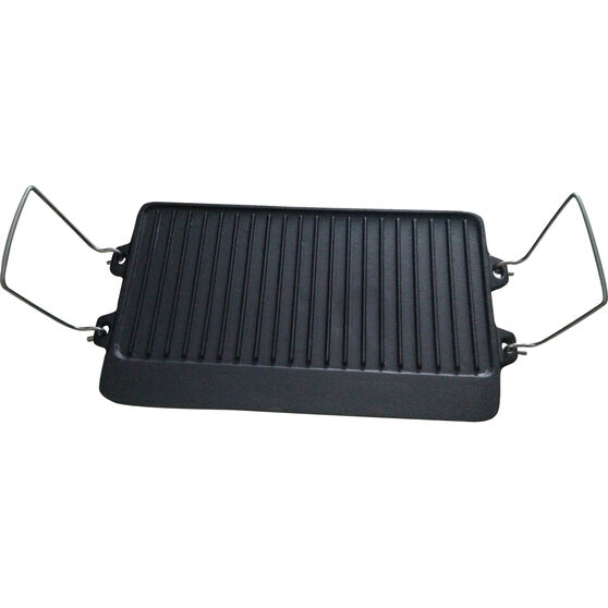 Wanderer Reversible Cast Iron Cook Plate 2 Burner, , bcf_hi-res