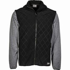 Men's Quilted Softshell Jacket Black / Grey S, Black / Grey, bcf_hi-res