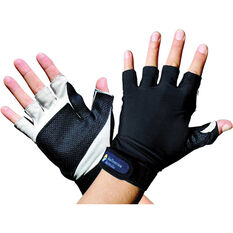 Sunprotection Australia Unisex Sports 50+ Gloves, Black, bcf_hi-res